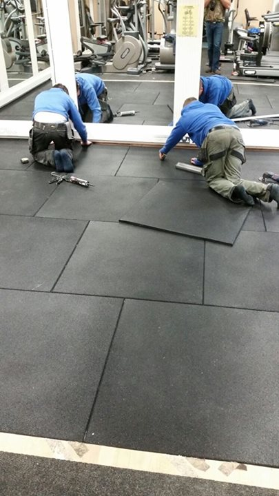 No Christmas break for our flooring division as they lay flooring down in the Glenmore Activity Centre in Lisburn todayN…