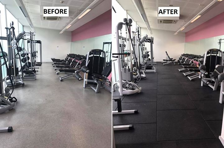 ~Complete Transformation~  Orchard Leisure Centre in Armagh were in need of rubber gym flooring after repeated dumbbell …