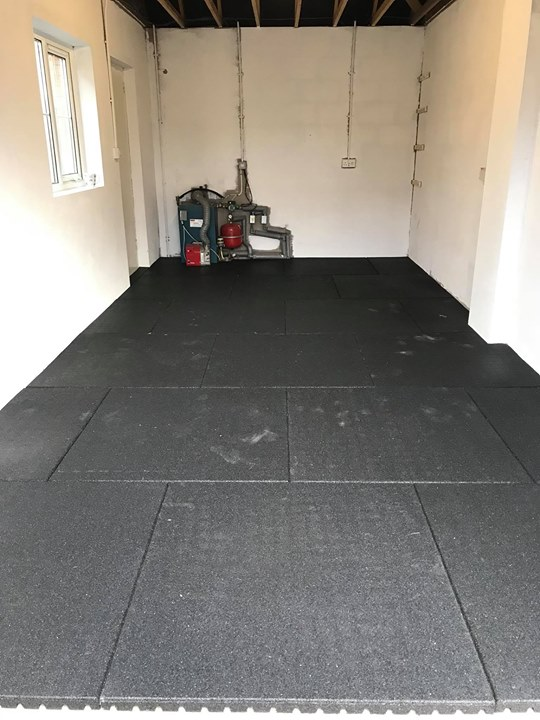 Mm rubber flooring install for a customer in antrim