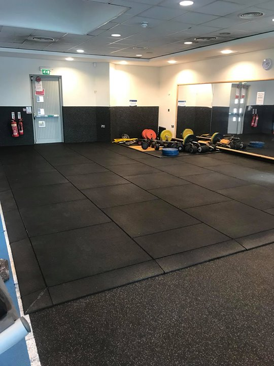 Another Floor Transformation. This time for Omagh Leisure Centre. These 43mm rubber tiles are ideal for any free weight …
