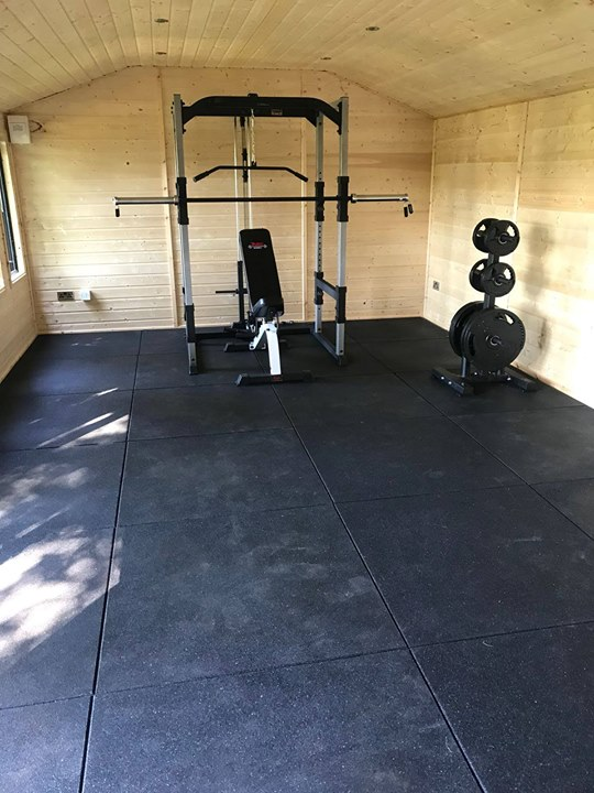 Today's job was the installation of 28 metres squared of 20mm thick  #Granuflex flooring for a home gym in Belfast. Thes…